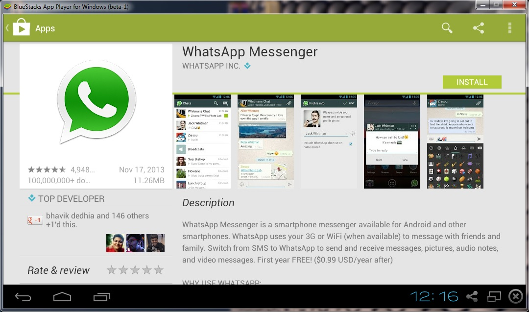 BlueStacks e WhatsApp