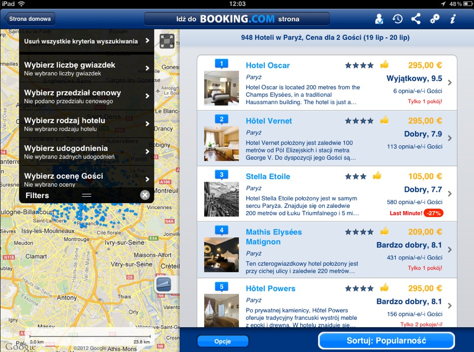 Booking app per iPad