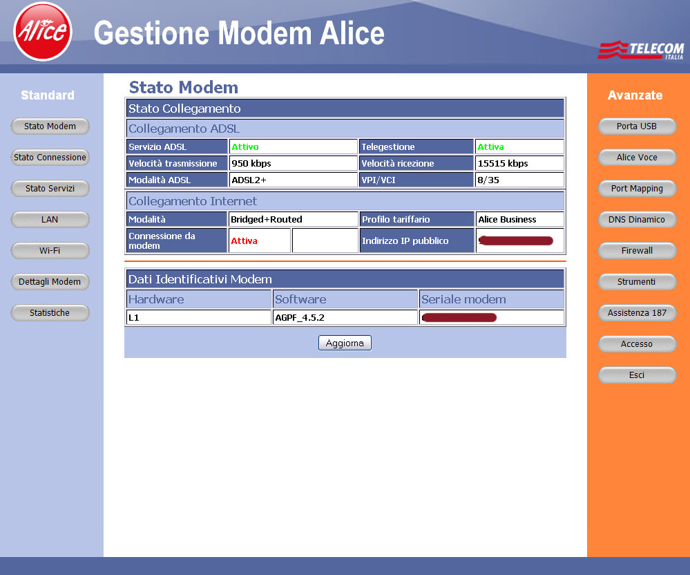 Come configurare il modem Alice da PC