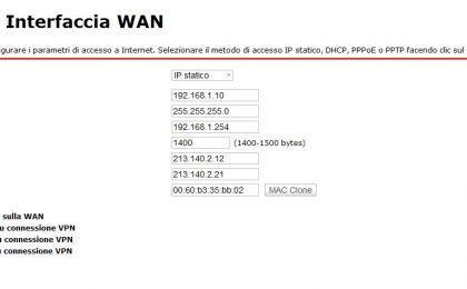 Come configurare il router Fastweb, Alice e Infostrada