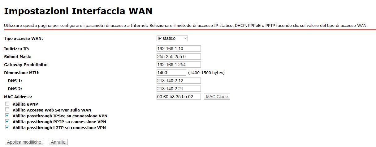 Come configurare il router di Fastweb
