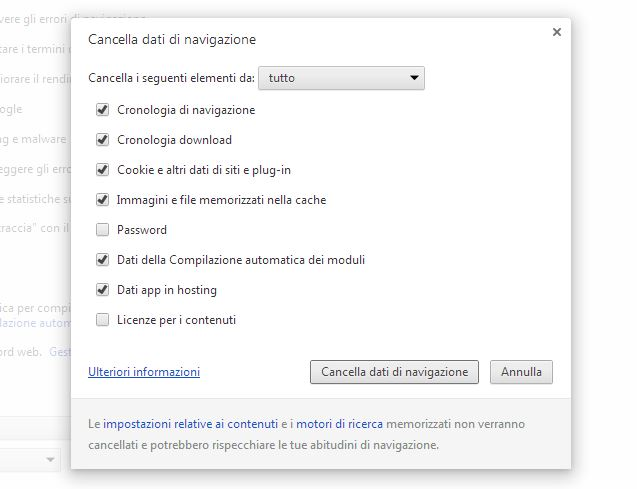 Cos'è la cache di Google Chrome d