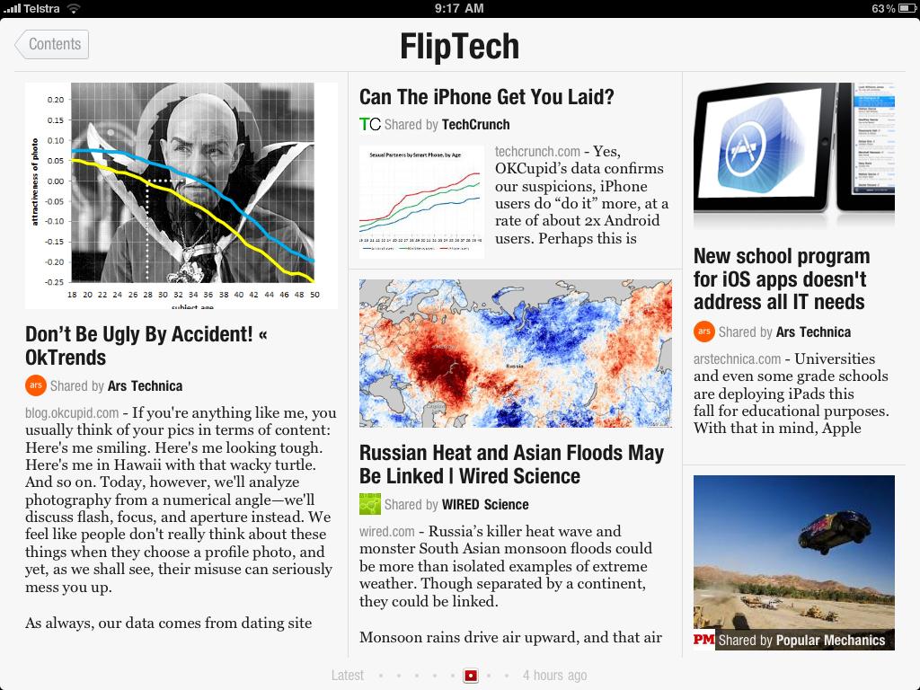 Flippboard schermata news