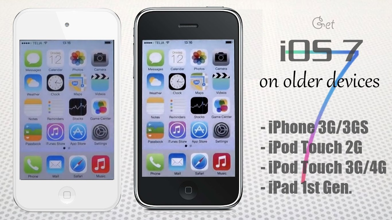 Installare iOS 7 su iPhone 3G
