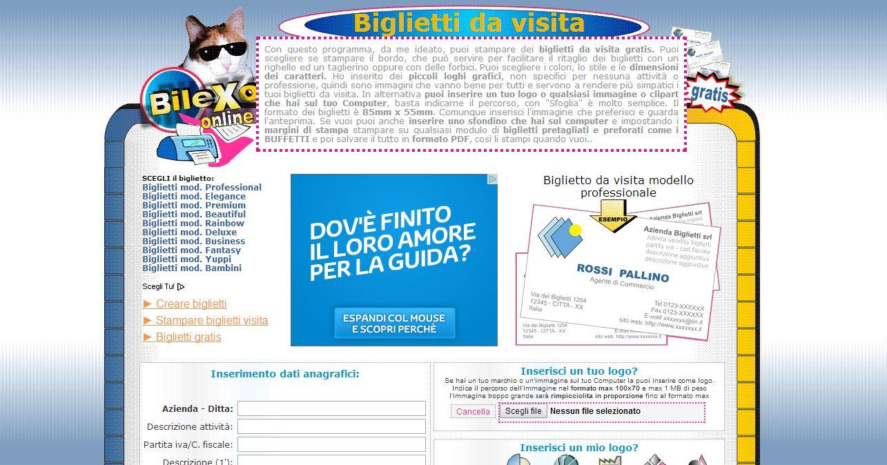 Iremat il sito online per creare biglietti da visita gratis