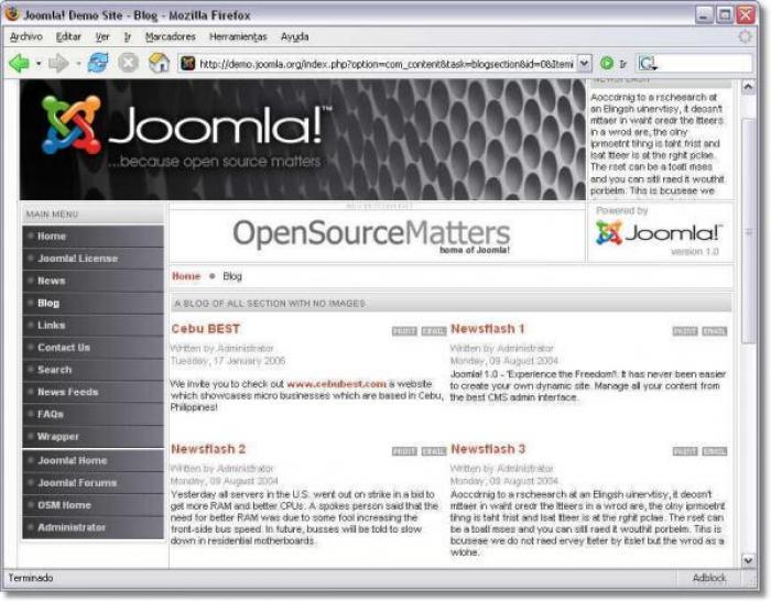 Joomla l'open soource per creare blog da zero