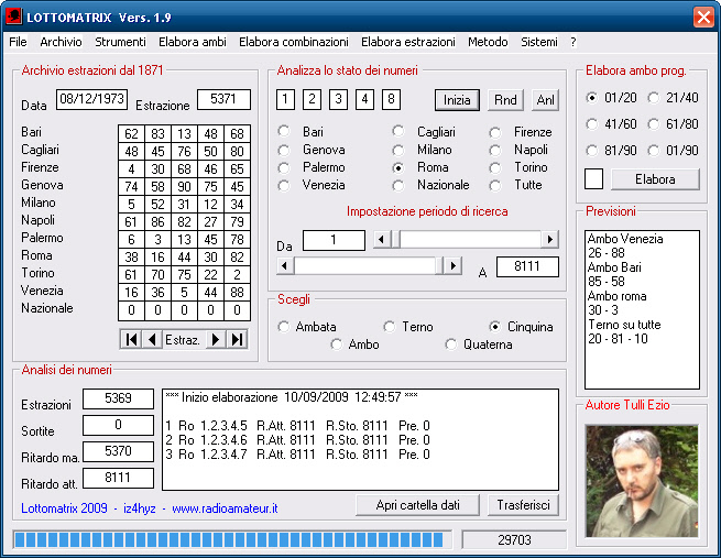 Lottomatrix è il programma per il lotto con tante funzioni statistiche