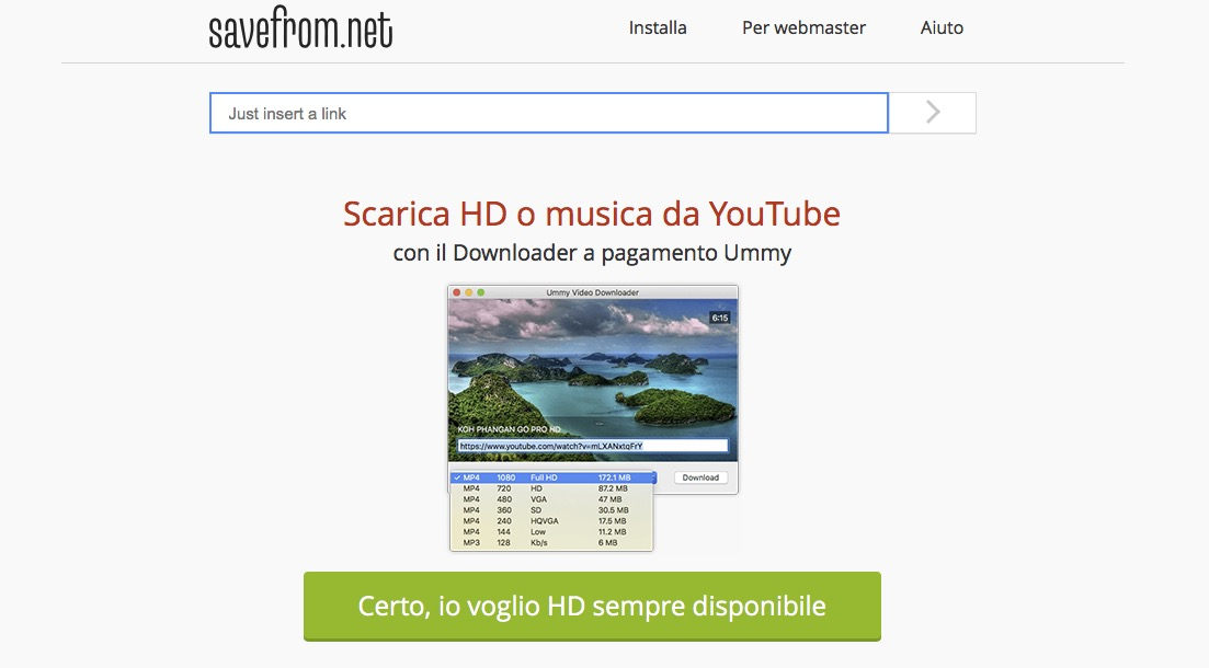 Come scaricare film da YouTube