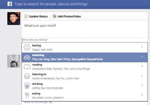 Stato Facebook con faccine