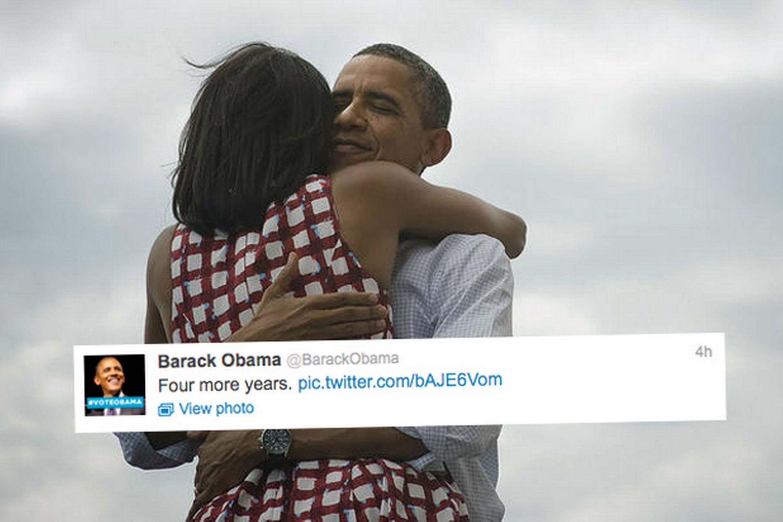 Twitter immagini con Obama