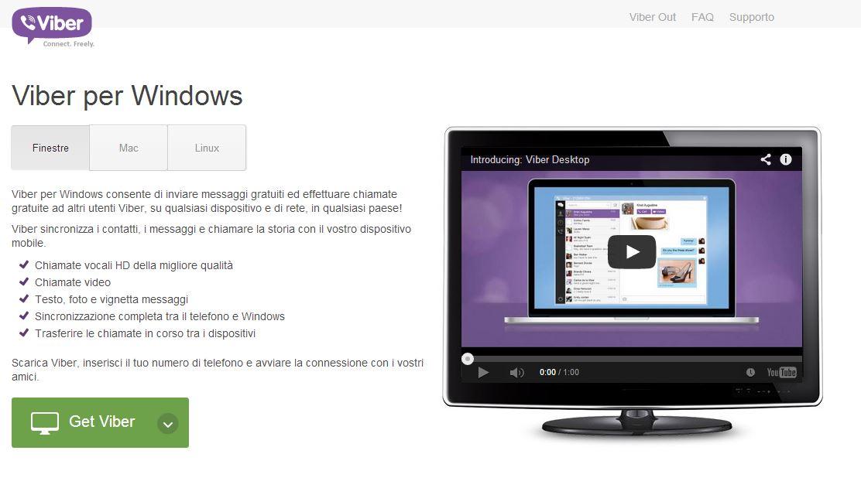 Viber schermata homepage