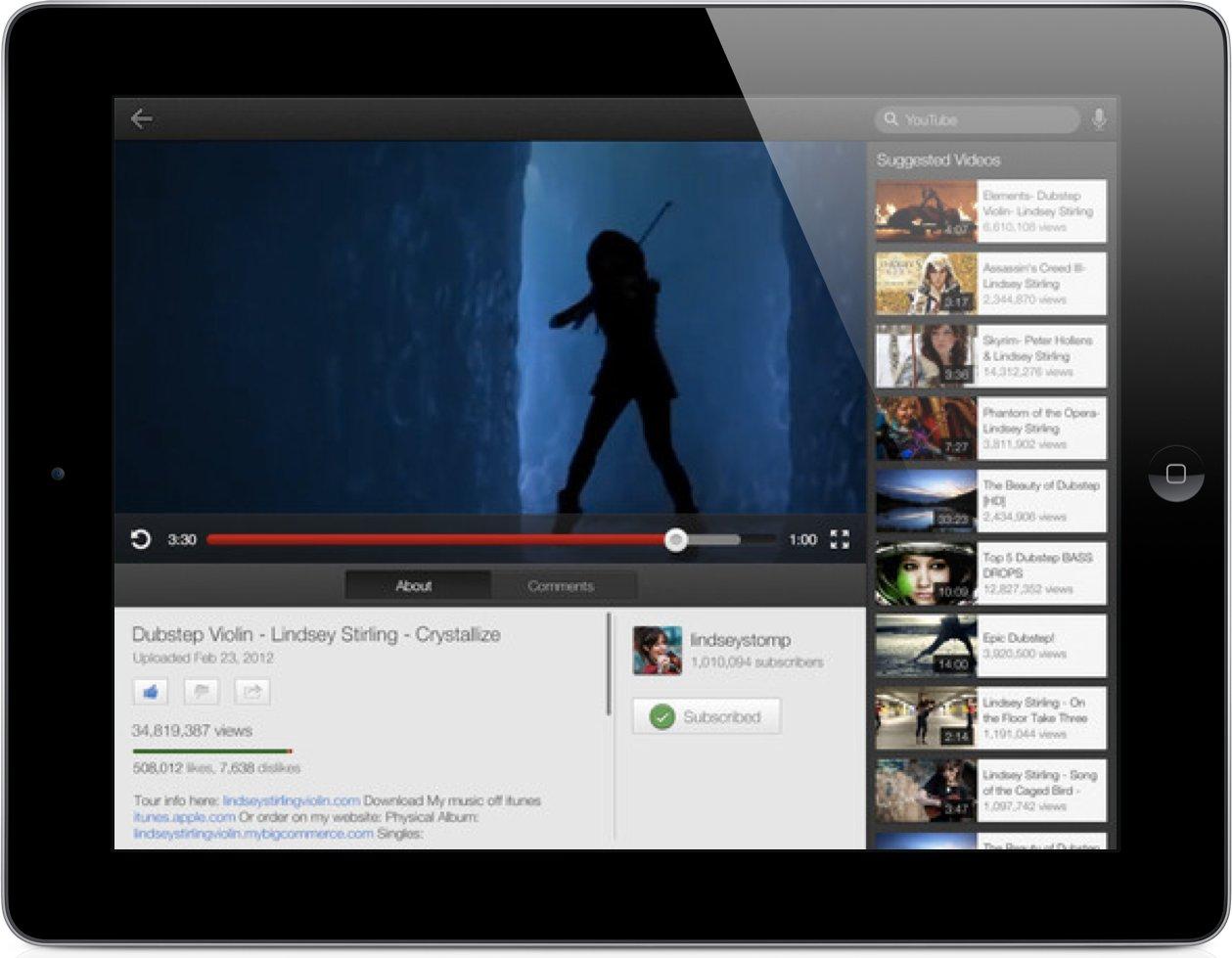 YouTube brano in esecuzione