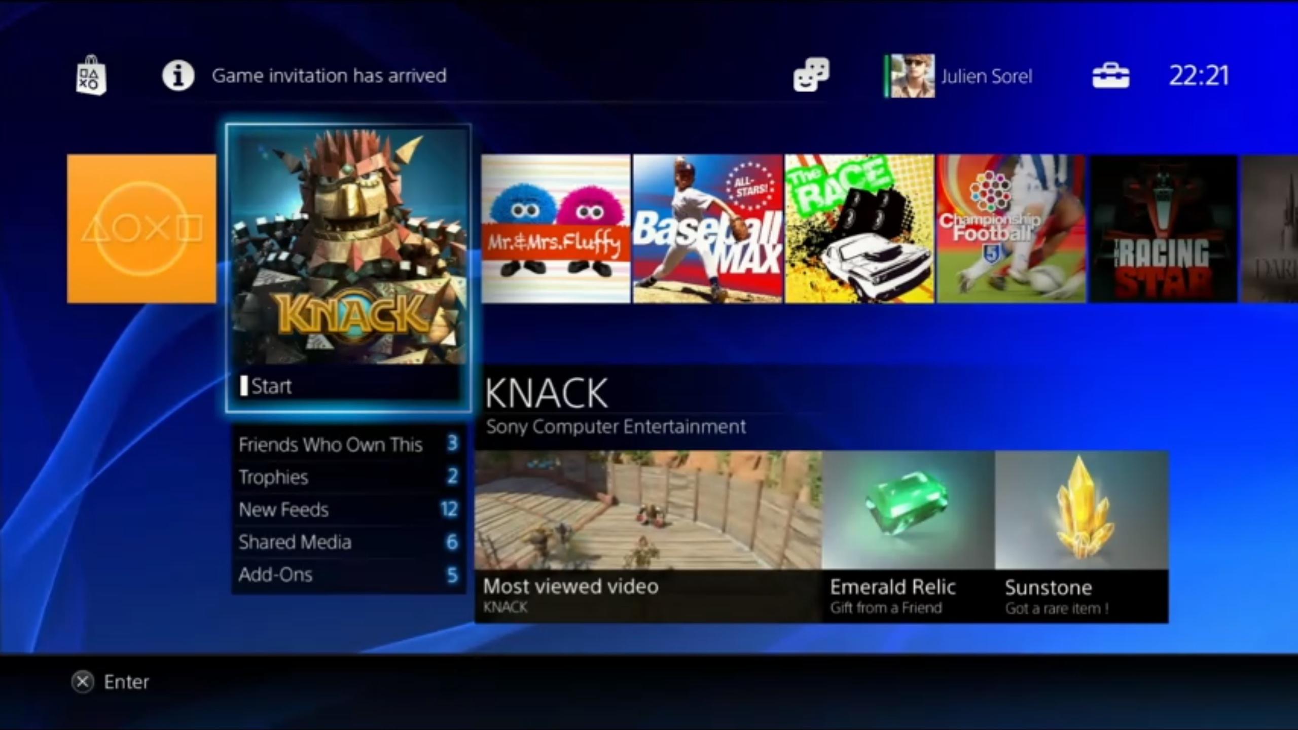L'interfaccia di PlayStation 4