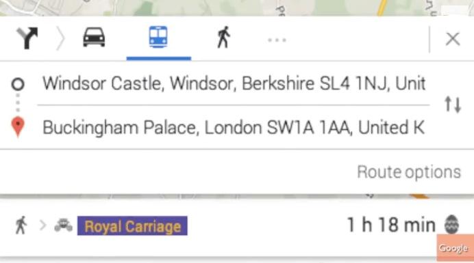 Carrozza reale Google Maps