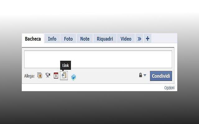 Condivisione link Facebook