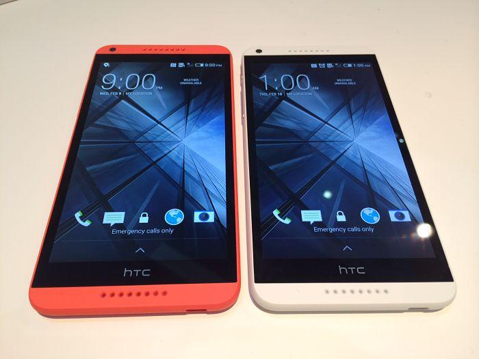 HTC Desire 816 bianco e arancio