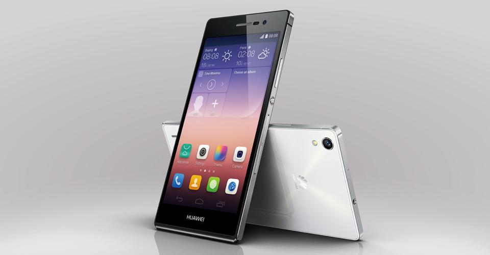 Huawei Ascend P7 bianco e nero