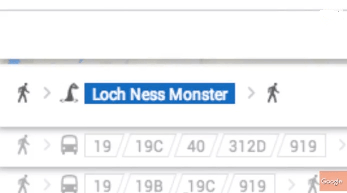 Loch Ness Monster Google Maps