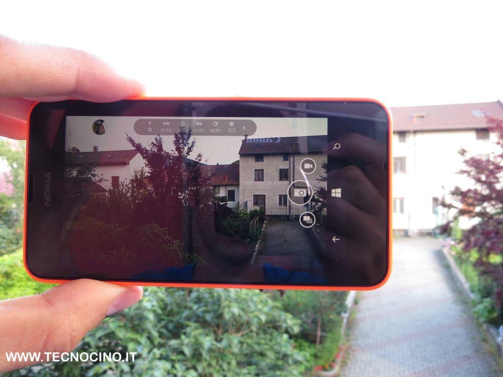 Nokia Lumia 630 menu fotocamera