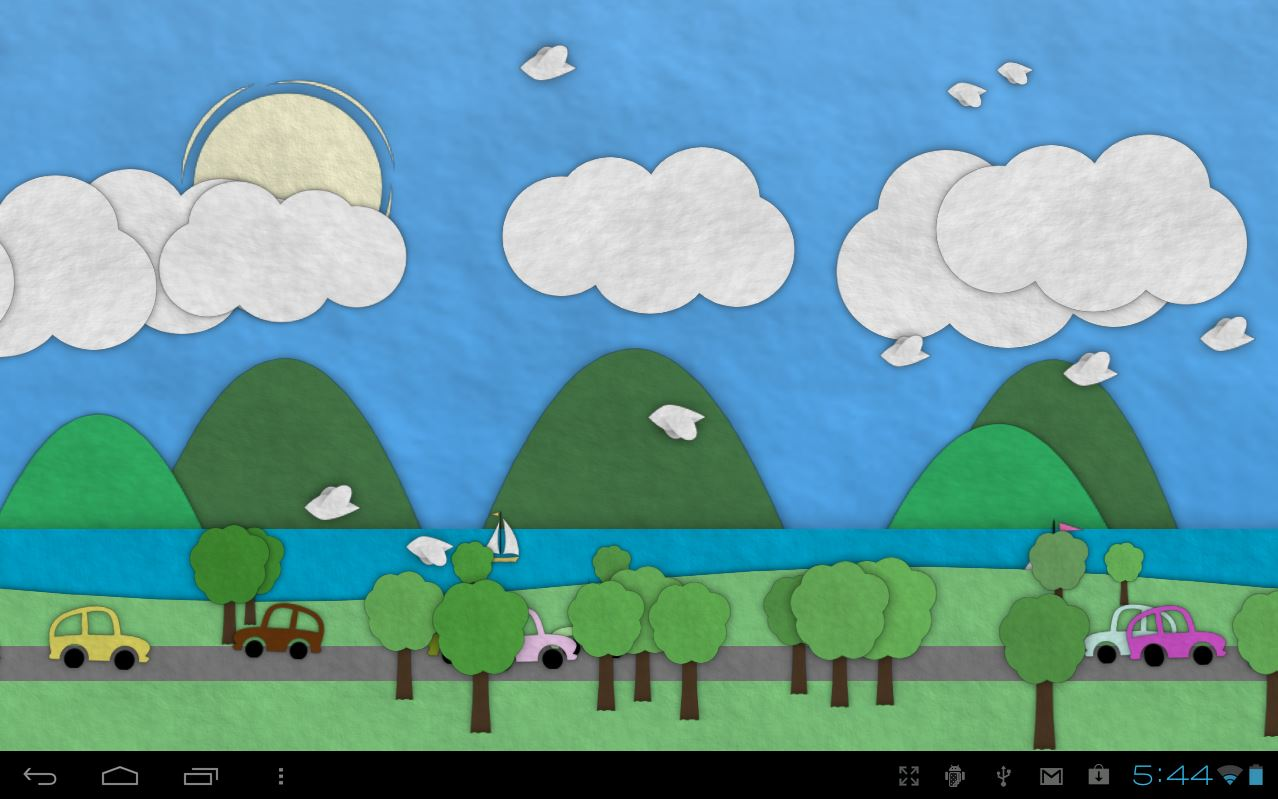 Paperland, sfondo scorrevole