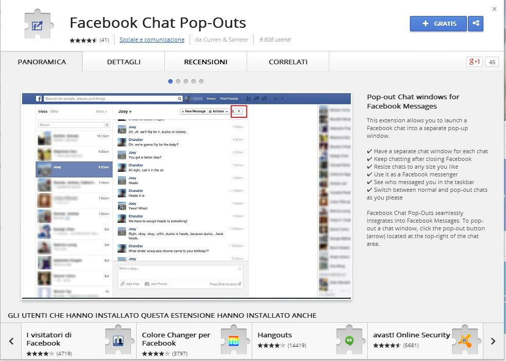 Plugin Facebook Chat Popup