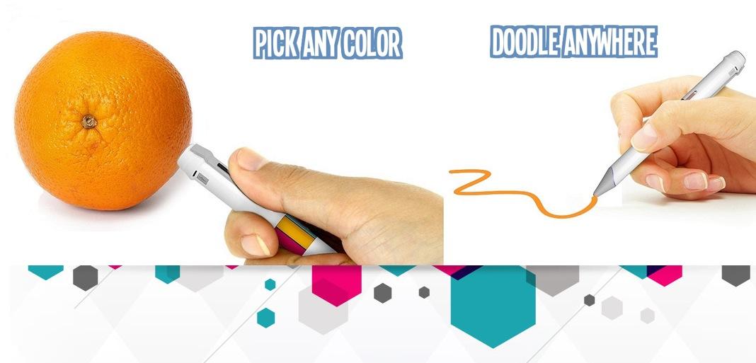 La penna-scanner che cattura un colore e lo riproduce, come in Photoshop