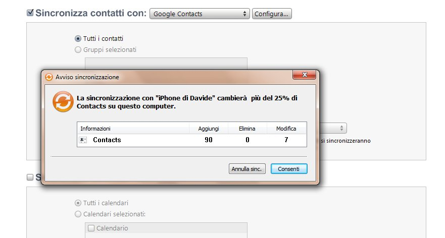 Sincronizza Gmail e iPhone