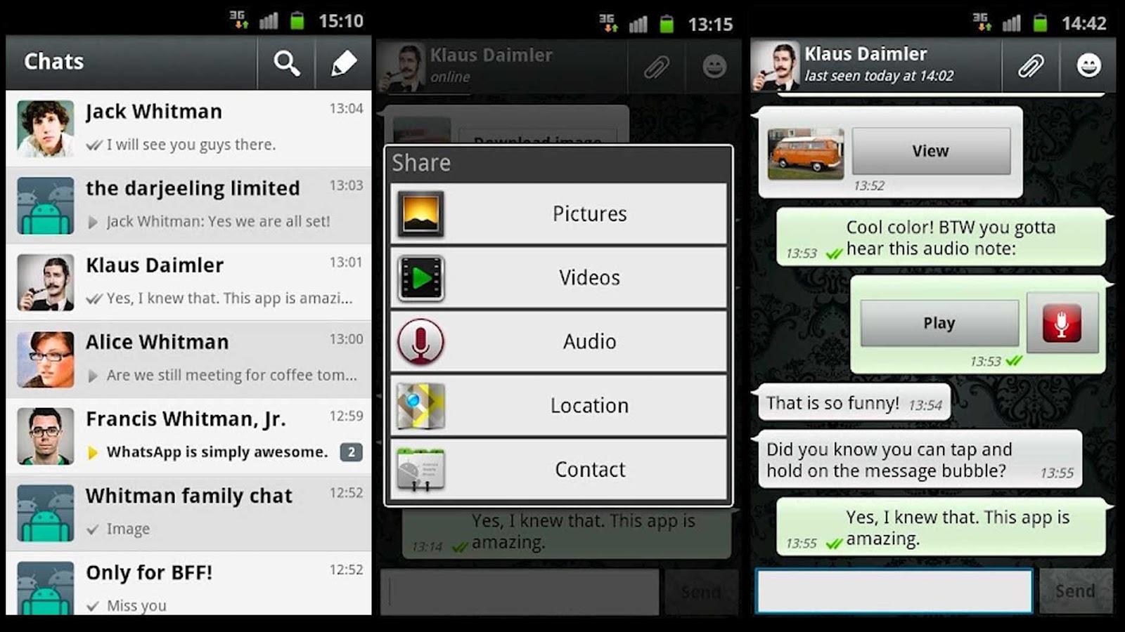 Whatsapp Android schermate