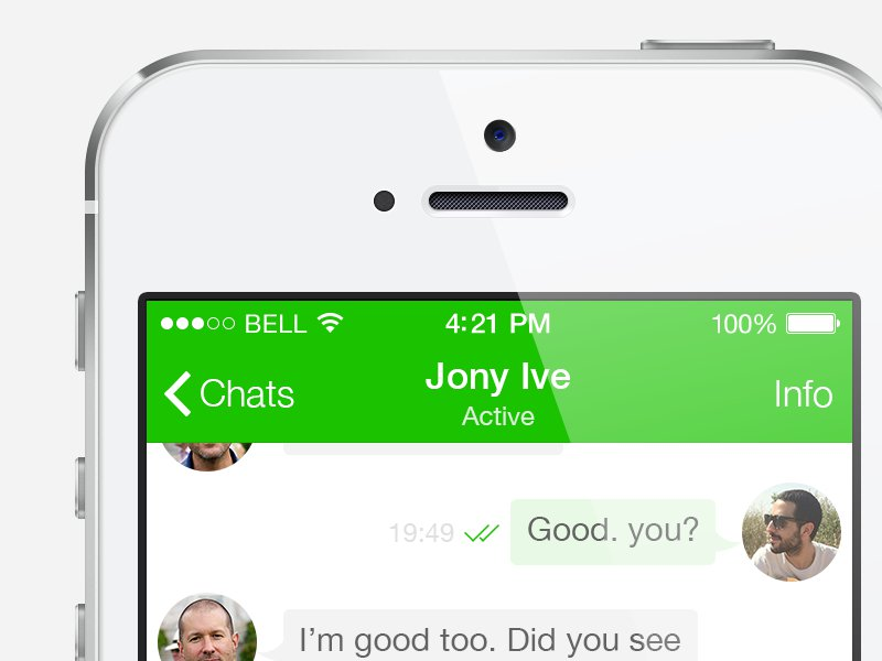Whatsapp iOS 7 interfaccia