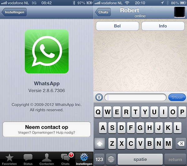 Whatsapp info chat