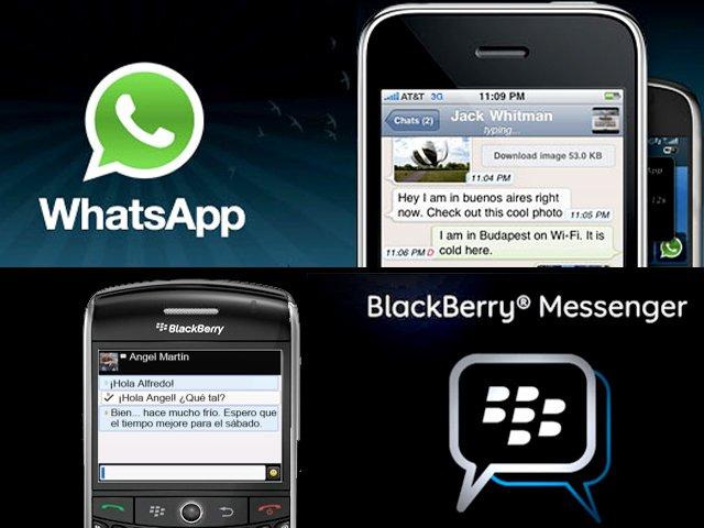 Whatsapp per BlackBerry logo
