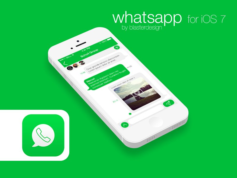Whatsapp per iOS 7 chat