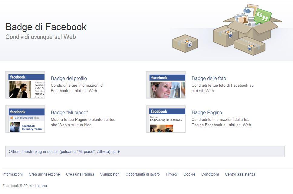 Widget Facebook per HTML