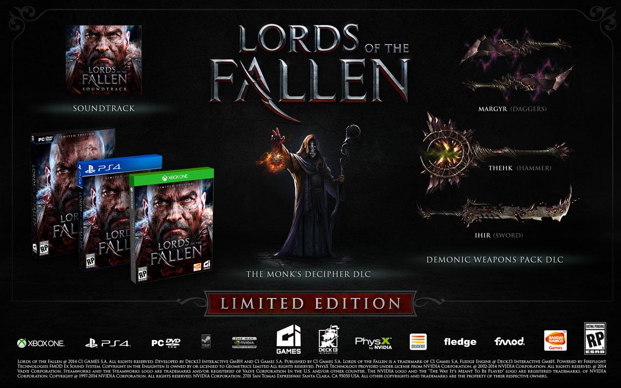 Lords of the Fallen edizione limitata