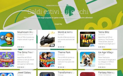 Giochi Android in sconto per l'estate 2014