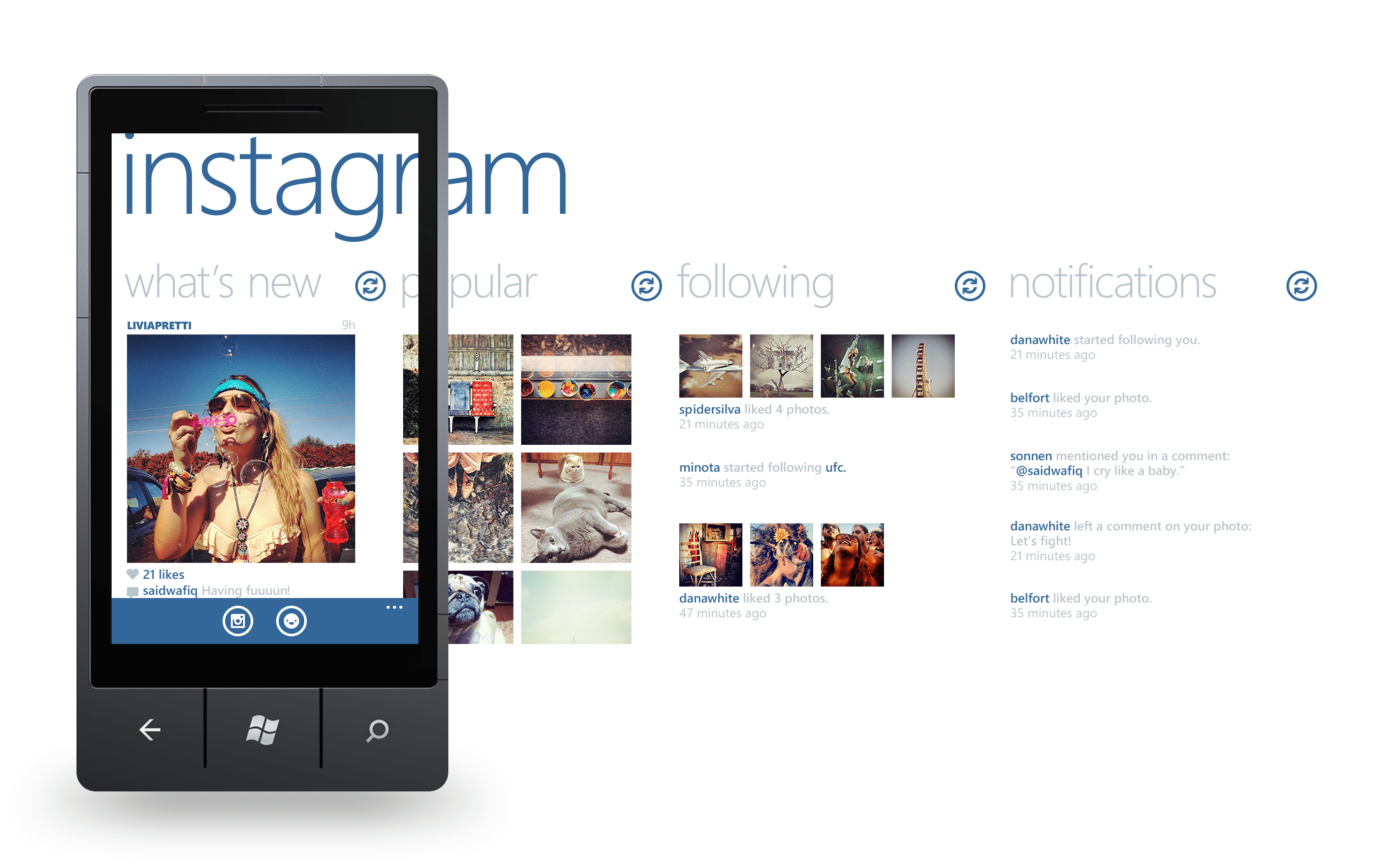 Instagram app per Windows Phone