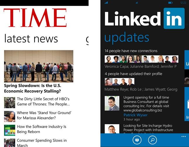 Linkedin tutti gli aggiornamenti su Windows Phone