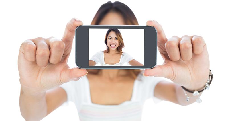 Ragazza selfie