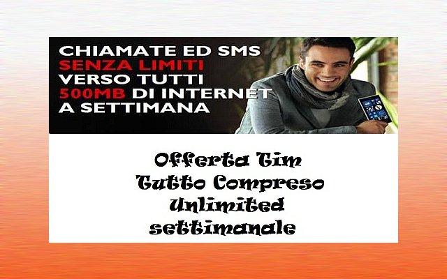 Unlimited Settimanale Tim