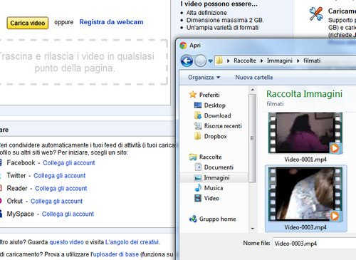 caricare video youtube 02