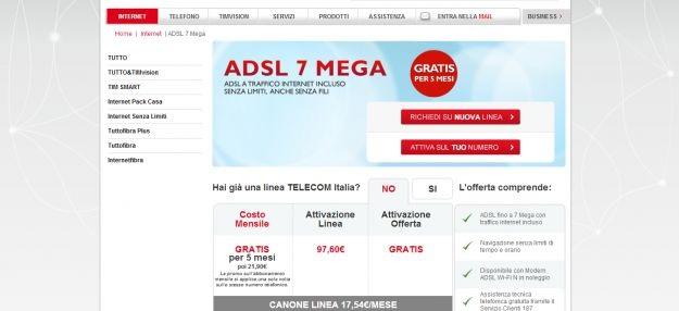 internet senza telefono telecom italia