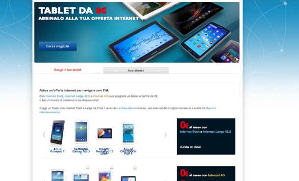 offerte tablet tim 03