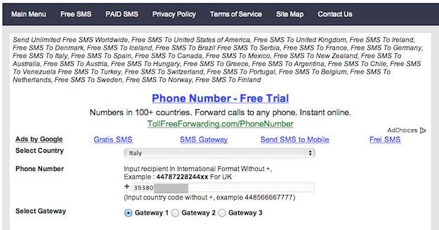sms gratis da pc 03