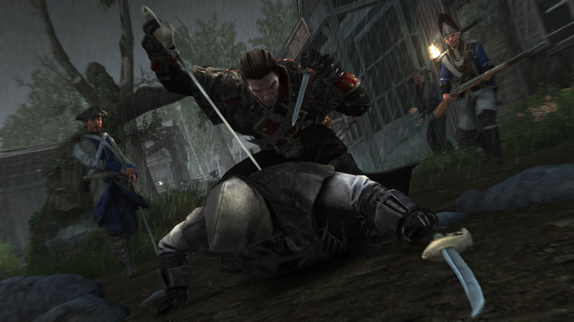 Assassin's Creed Rogue combattimenti