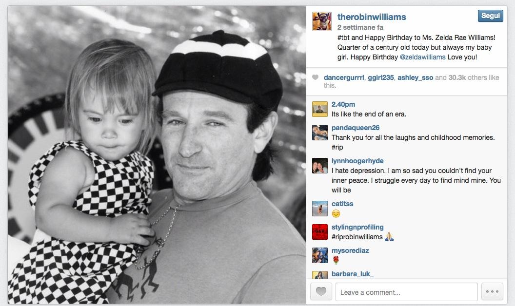 Ultima foto Robin Williams