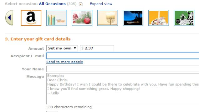 Carte regalo per Amazon