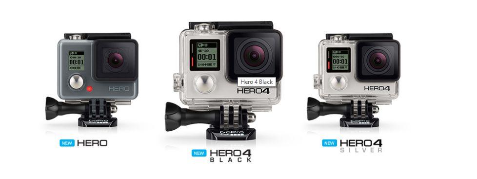 GoPro Hero 4 differenze