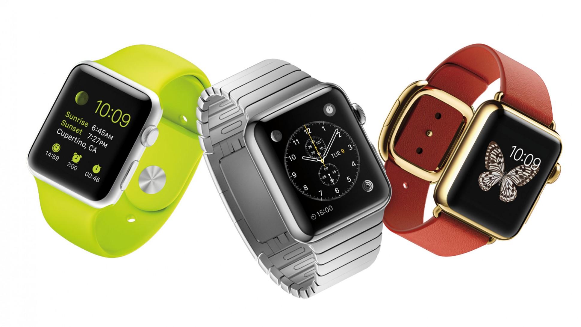 Le tre versioni di Apple Watch