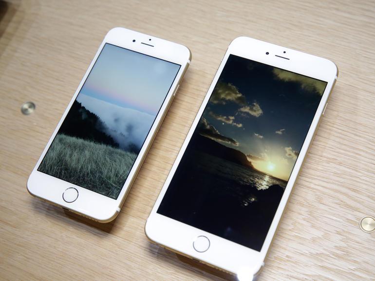 Lo schermo di iPhone 6 Plus