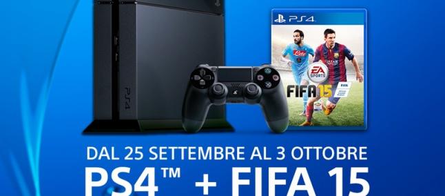 PS4 con in regalo FIFA 15: il nuovo bundle Sony